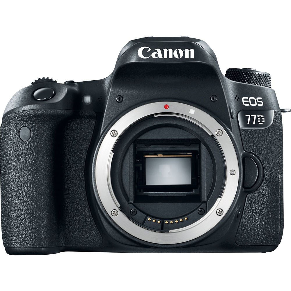 Canon EOS 77D DSLR con Objetivos 18-55mm IS STM y 55-250mm IS STM